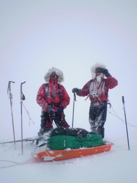 Manuel Mallo y yo en el Vatnajokoul(Islandia) el glaciar mas grande de Europa, la nuestra fue una de las travesías mas largas realizadas en dicho glaciar